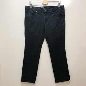 MOSSIMO Mid Rise Straight Jeans Sz14 Solid Black